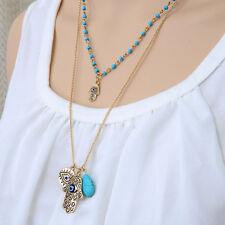 Wholesale Chic Evil Eye Hamsa Hand Fatima Palm Bib Statement Necklace Jewelry