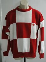 Vintage Men's Forest Club Red & White Sweater, Size L