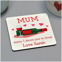 Wine Drinks Coaster for Mum Nan PERSONALISED Birthday Gifts for Her Nanna