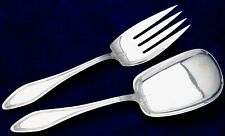 Mary Chilton by Towle sterling silver 2 piece all Silver Salad Set 9 1/8""