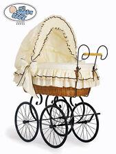 My Sweet Baby - Retro Wicker Crib Moses Basket - Ivory