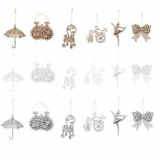 Christmas Tree Decorations - Set of 6 - Glitter / Girlie Design - Choose Colour