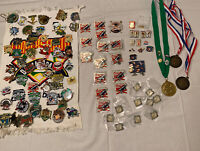 BIG MIXED LOT of BASEBALL /SPORT  PINS + MEDALS & MORE  Metal Enamel
