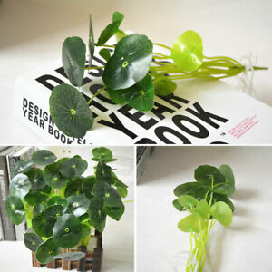 1/2/3x Artificial Fake Lotus Leaf Flowers Water Lily Floating Pool Plants Decor