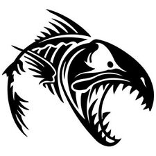 2 pegatinas angry fish 7 pescado auto sticker decal 17 cm tuning JDM