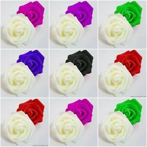Large 6cm Foam Rose Heads Artificial Flower Heads Wedding Decoration UK