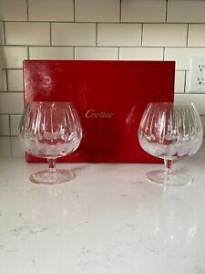 Cartier Brandy Snifters / Cognac - Pair with Original Box
