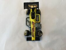 1997 Hot Wheels Super Modified yellow stunt track driver interactive