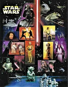 USPS Star Wars Collectible Sheet of 15 X 41 Cent Stamps  NEW was 12.99 now 10.99