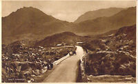 Vintage Welsh postcard Nant Ffrancon Pass in Snowdonia North Wales