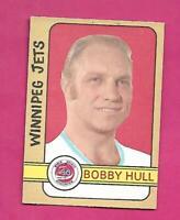 1972-73 OPC WHA # 336 JETS BOBBY HULL   HIGH # GOOD CARD   (INV# D3489)