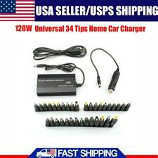 Power Supply Adapter 34 Tips Laptop Notebook Home Car Charger Universal 12V