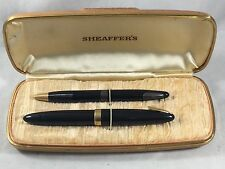 Sheaffer's Statesman Fountain Pen and Pencil Set 14 K Gold Nib Orig box papers