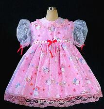 BBT ADULT SISSY  KITTY TEA BONNET DRESS LOVELY PINK