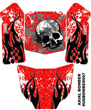 Axial Bomber Body Skin Decal Wrap Sticker Ultradecal 3M Vinyl Red Fire Skull