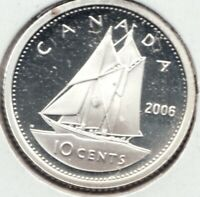 $0.10 2010 Canadian Silver Proof Dime