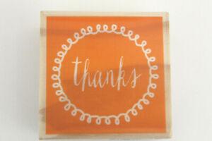 Wood Mounted Rubber THANKS Stamp Scrapbooking Hampton Art VW0171 Card Crafts New