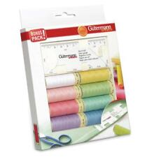 Gutermann Sew All Thread Set + Seam Gauge - 8x 100m Reels Assorted Colours