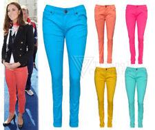 Jeans da donna colorati bassi denim