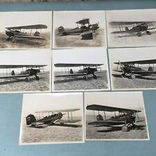 1940's 8X10 Airplane Photos SPARTAN C3 Aircraft X700N C286M NC708N X707N Biplane