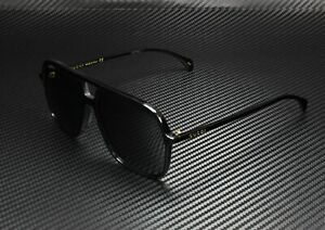 GUCCI GG0545S 001 Aviator Black Shiny Black Grey 58 mm Men's Sunglasses
