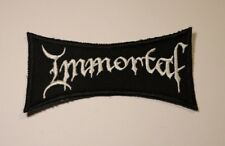 Immortal Patch Embroidered Iron/sew on Black Metal