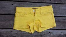 Women's  Guess Denim Size 26  Yellow Shorts STRETCH