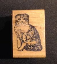 Cat Scottish Fold Rubber Stamp