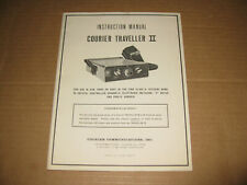 Courier Traveller Ii Instruction Manual Class D Cb Radio