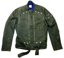Diesel Dark Green Designer Biker Jacket Slim Fit Men's XL