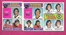3 X 1975-76 TOPPS   BRUINS BOBBY ORR EX-MT  CARD (INV# C3678)