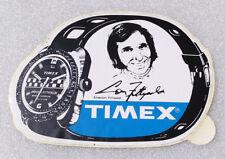 RARE Vintage Sticker ✱ EMERSON FITTIPALDI & TIMEX ✱ Decal Formula 1 Watch