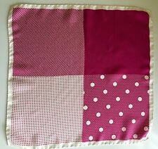 REISS PINK POCKET SQUARE 100% SILK EXCELLENT PRE OWNED CONDITION