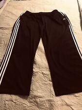 Adidas Black Sports Pants/white stripes down legs/athletic/exercise/ru nning 4X