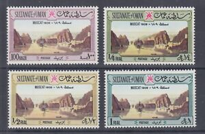 Oman Sc 147-150 MNH. 1972 View of Muscat, top values to set, fresh, bright, VF.