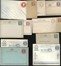 Uk Gb 1880s 1900 Collection Of 12 Postal Cards Letter Card & Cover All Different