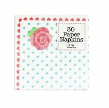 Vintage Paper Napkins Afternoon Tea Party Rose Polka Dot Decoration X 30