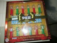 Pez 12 Days of Christmas Ornament Gift Set With Candy 3.48 oz NEW