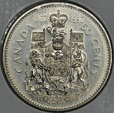 CANADA 50 CENTS 1992 in MS -125th birthday of Canada (1867-1992)