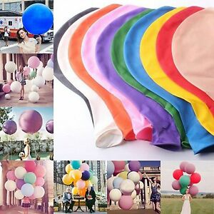 "36""Inch Large Giant Big Latex Balloons Birthday Party Wedding Color For Choice"