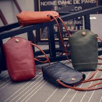 Ladies Messenger Shoulder Bags Fashion Leather Clutch Purse Mobile Phone Bag AT