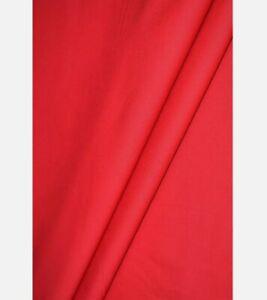 XMAS RED PLAIN 100% COTTON FABRIC, sold/PER METRE/