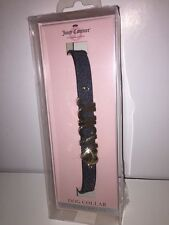 "JUICY COUTURE ""JUICY"" Iridescent Pet Dog Collar Limited Edition BLACK NWT Boxed"