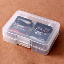 CF SD Card Compact Flash Memory Card Holder Box Storage Transparent Plastic Case