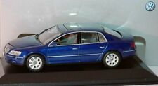 VW PHAETON GP1 W12 2002-2007 BLUE V6 V8 V10 TDI 1:43 MINICHAMPS (DEALER MODEL)