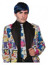 Pop Arte Corbata FANTASY CÓMIC estampado Accesorio de Disfraz Adulto Talla Única