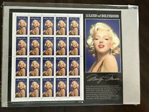 MARILYN MONROE 32 cent stamp sheet 1995 Legends of Hollywood sheet of 20 MINT