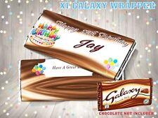 PERSONALISED Birthday Cake CHOCOLATE BAR WRAPPER fits Galaxy 110g Birthday Gift