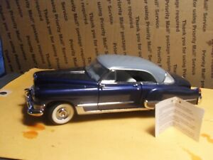 FRANKLIN MINT 1949 CADILLAC COUPE DEVILLE 1:24 BLUE & GRAY W/ TAG