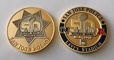 SUPER BOWL 50 NFL LEVI'S STADIUM SAN JOSE PD POLICE CHALLENGE COIN MANNING ELWAY